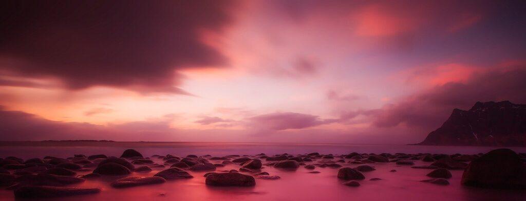 norway, sunset, dusk